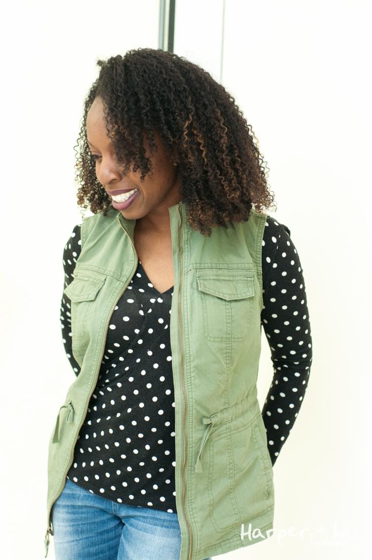 FB - Vogue 8151 - SlyFox Polka Dot Fabric-0124