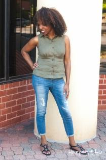RTW Distressed Denim Jeans (Target)