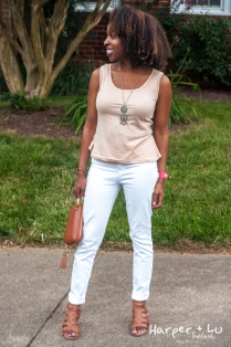 RTW High Waisted White Jeans (J. Crew)