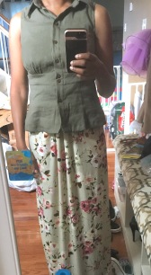 Paired with the Patterns for Pirates Sunshine Dress hacked into a maxi skirt)