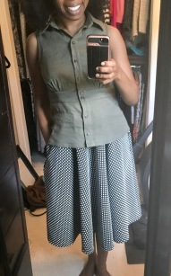 Paired with the Love Notions Sybil Skirt (swing version)