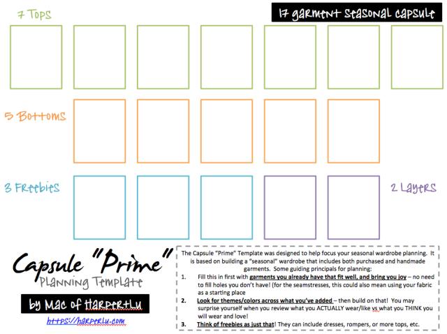 Capsule Prime Planning Template by Mac of Harper+Lu