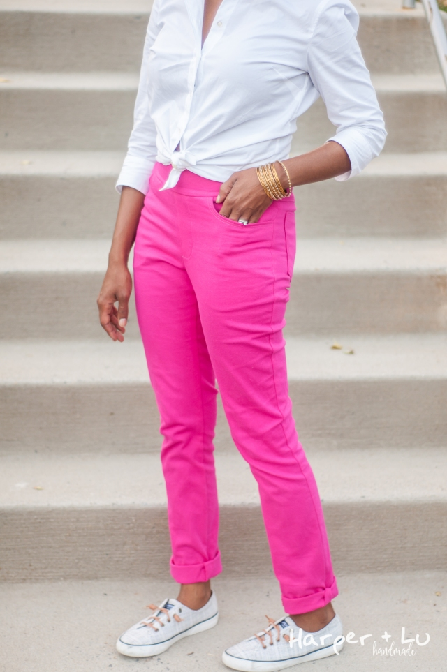 Blog - Jalie Eleonores - Pink Stretch Twill-2629